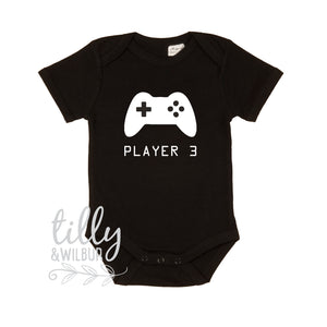 Player 3, Player 3 Has Entered The Game, Player 1 Player 2, Father Son Matching Shirts, Matching Dad Baby, Gamer, Gaming, Father's Day Gift