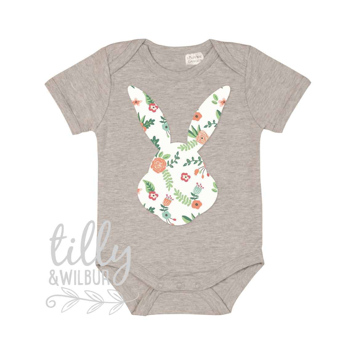 Pretty Patterned Easter Baby Bodysuit, First Easter One-Piece, Newborn Easter Gift, 1st Easter Outfit, Baby's 1st Easter, Bunny Rabbit