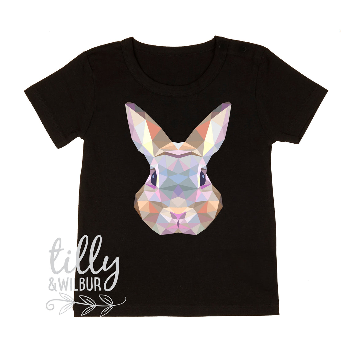 Rabbit Easter T-Shirt For Boys, Geometric Rabbit Shirt, Easter T-Shirt, Boys Easter Gift, Boys Easter Shirt, Hip Hop Boys Easter Clothing