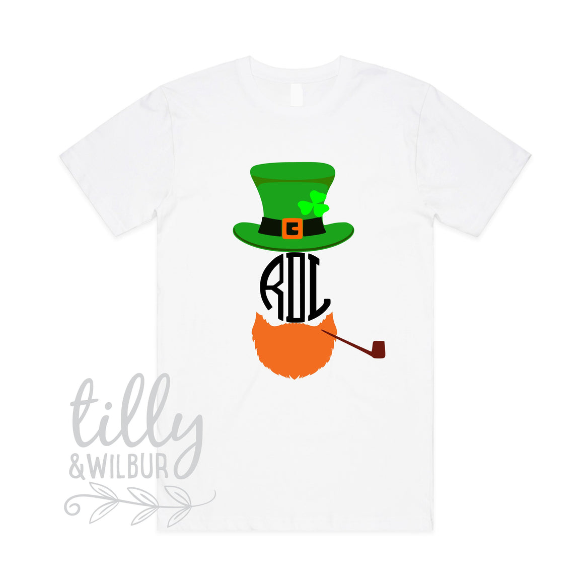 St Patrick's Day Personalised Men's T-Shirt, St Patrick's Day Shirt With Monogram Initials, Happy St Paddy's Day, Ireland, St Patrick