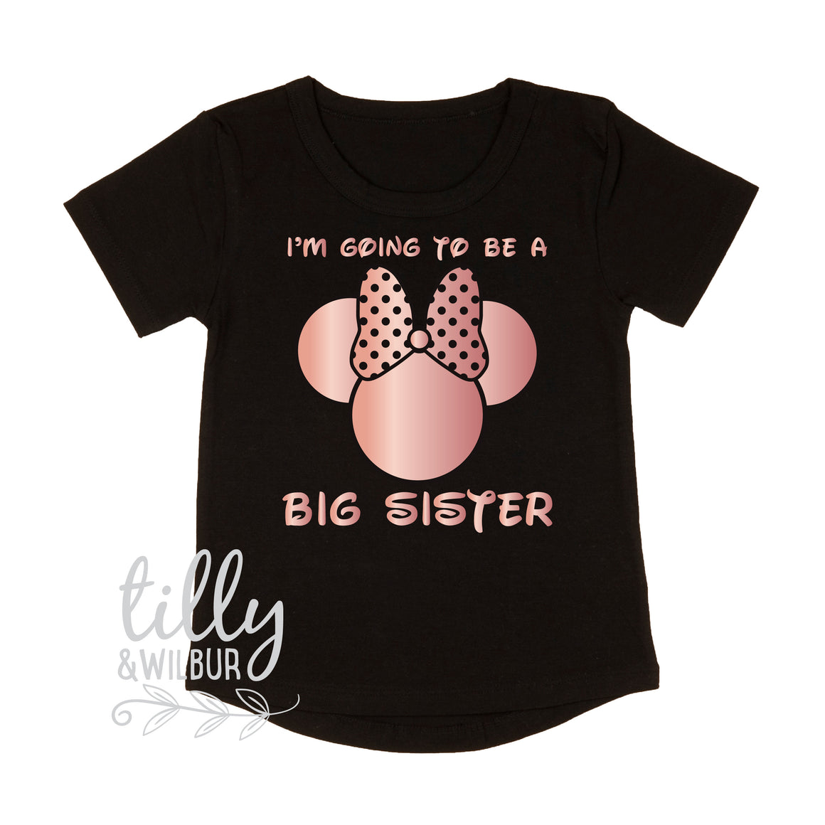 I'm Going To Be A Big Sister T-Shirt for Girls, Minnie Mouse Design, Big Sister Shirt, Pregnancy Announcement, Minnie Mouse Sister T-Shirt