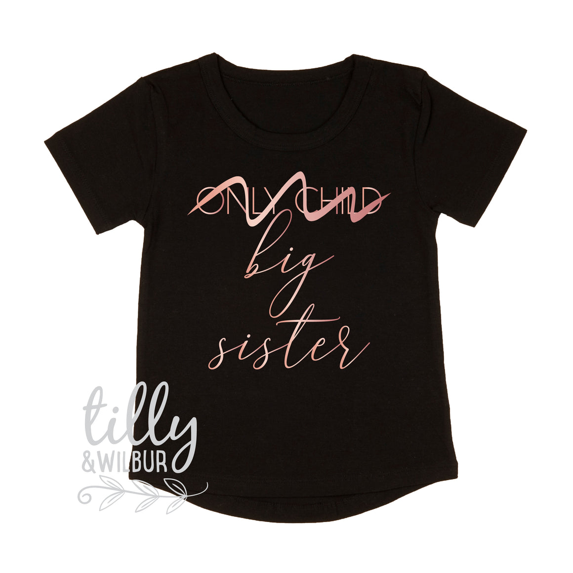 Only Child Big Sister T-Shirt, I'm Going To Be A Big Sister Shirt, Only Child No Longer, Big Sister Shirt, Sister Shirt, Sibling Shirt