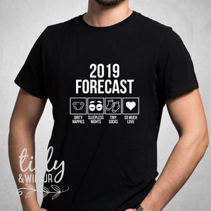 Forecast 2019 Men's Pregnancy Announcement T-shirt, Men's Clothing, Pregnancy Announcement, I'm going to be a Dad, Dad to be