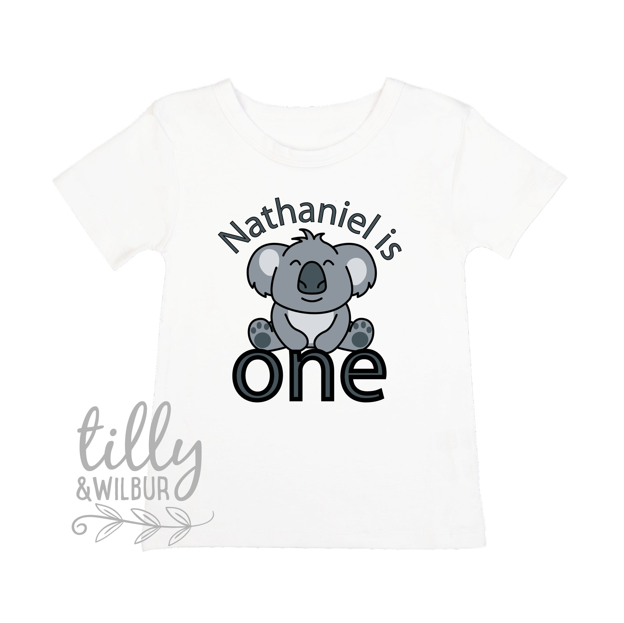 2aed6ba00a728 Personalised Koala 1st Birthday T-Shirt