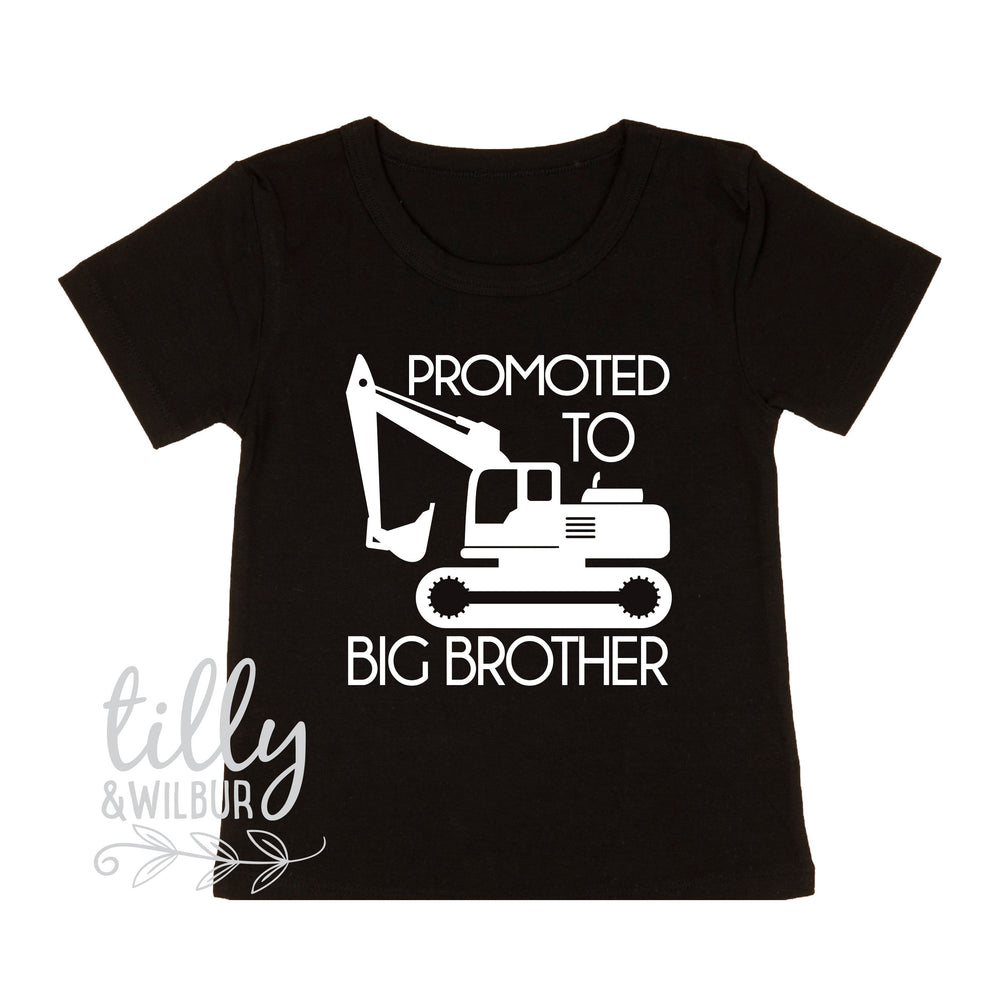 Promoted To Big Brother Excavator T-Shirt For Boys