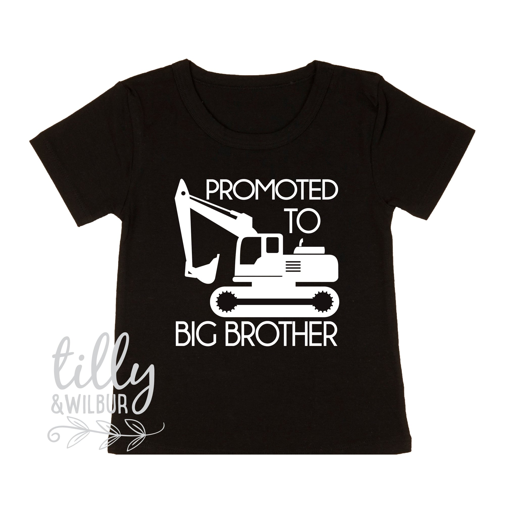 Promoted To Big Brother Excavator T-Shirt For Boys, Big Brother Shirt, I'm Going To Be A Big Brother, Pregnancy Announcement, Boys Clothing