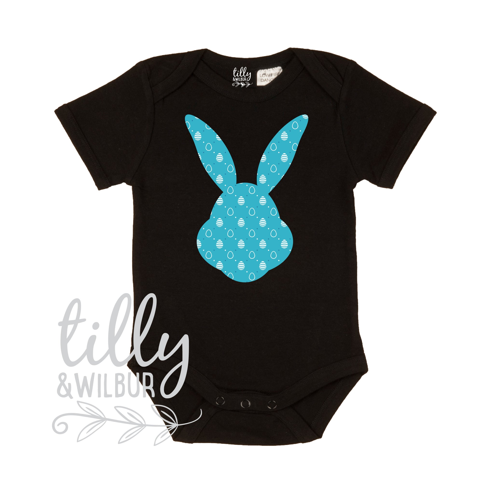 0ee0b8f96 Patterned Easter Bunny Baby Bodysuit For Boys, First Easter One-Piece, Newborn  Easter