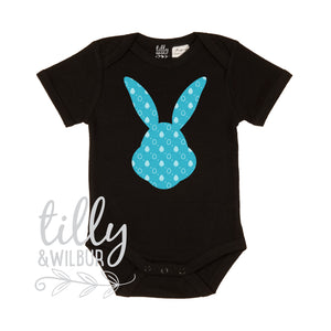 Patterned Easter Bunny Baby Bodysuit For Boys, First Easter One-Piece, Newborn Easter Gift, 1st Easter, Baby's 1st Easter, Bunny Rabbit