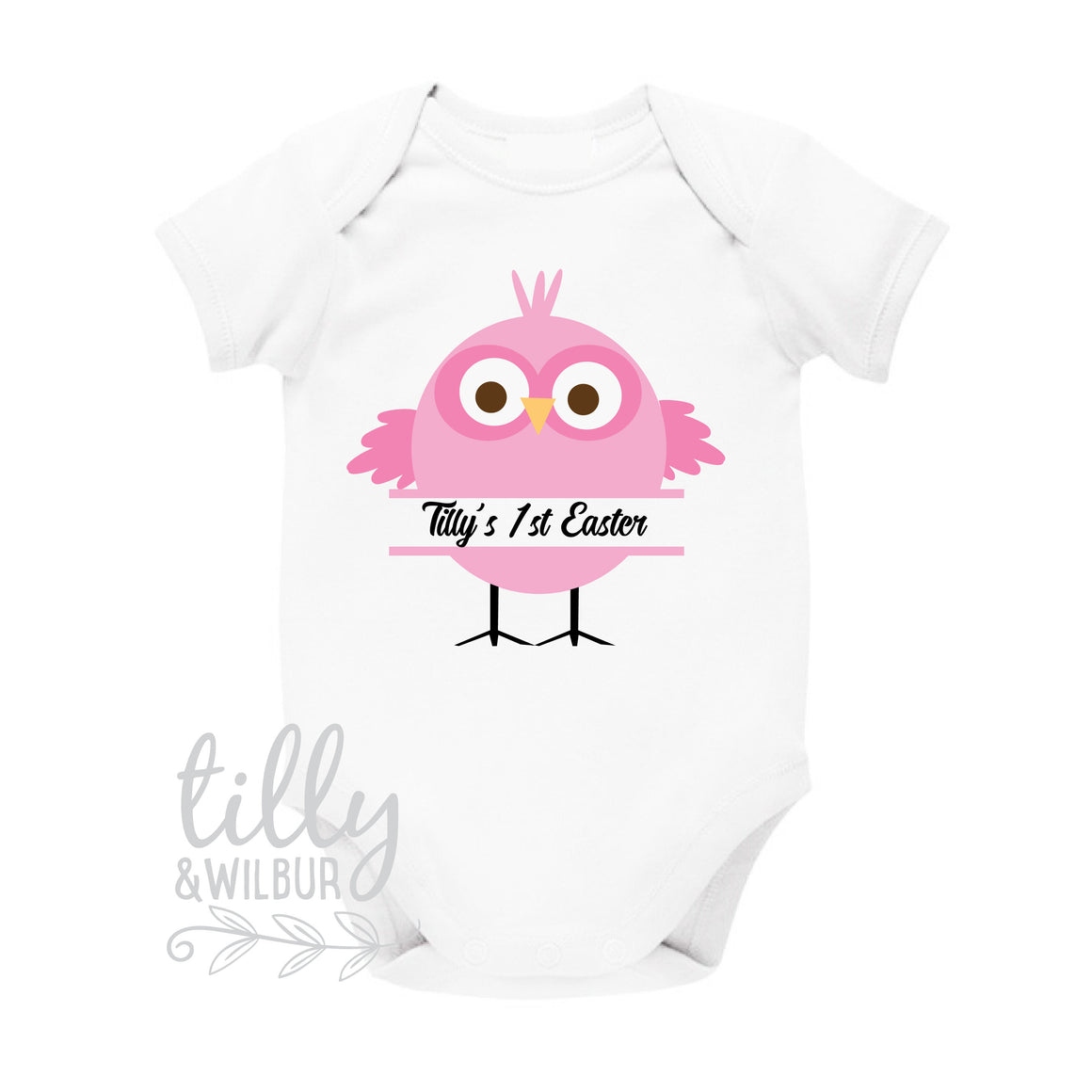 Personalised 1st Easter Baby Bodysuit, Little Chick, First Easter Baby Bodysuit, Newborn Easter Gift, 1st Easter Outfit, Baby's 1st Easter