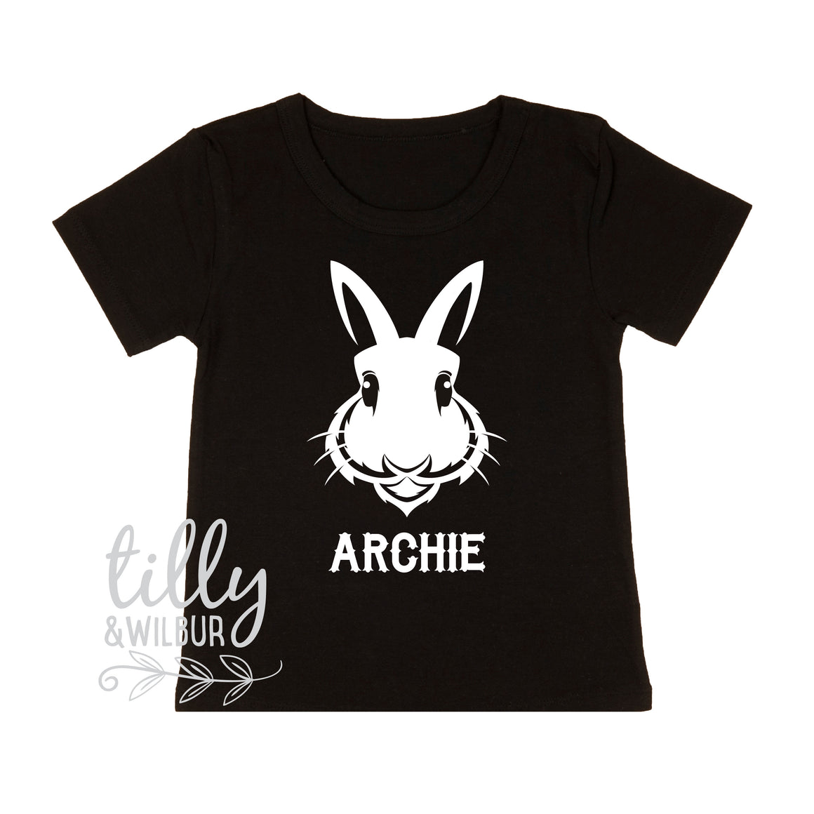 Personalised Rabbit Easter T-Shirt For Boys, Rabbit Shirt, Easter T-Shirt, Boys Easter Gift, Boys Easter Shirt, Hip Hop Boys Easter Clothing