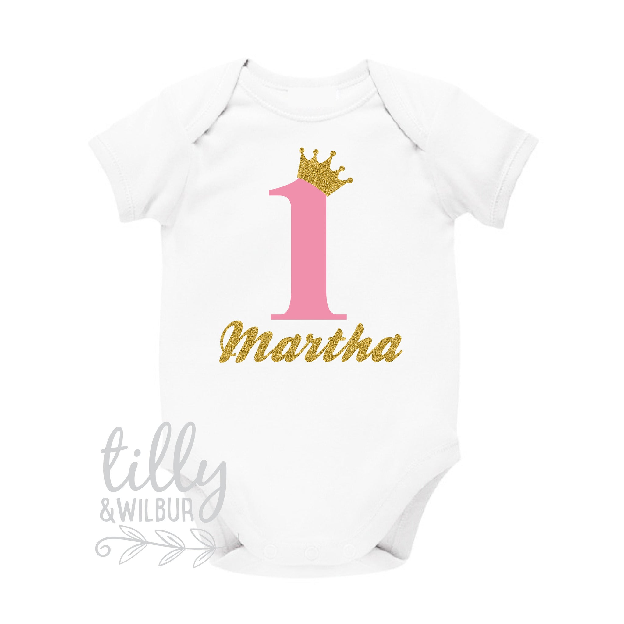 4926810240bb0 Personalised 1st Birthday Bodysuit