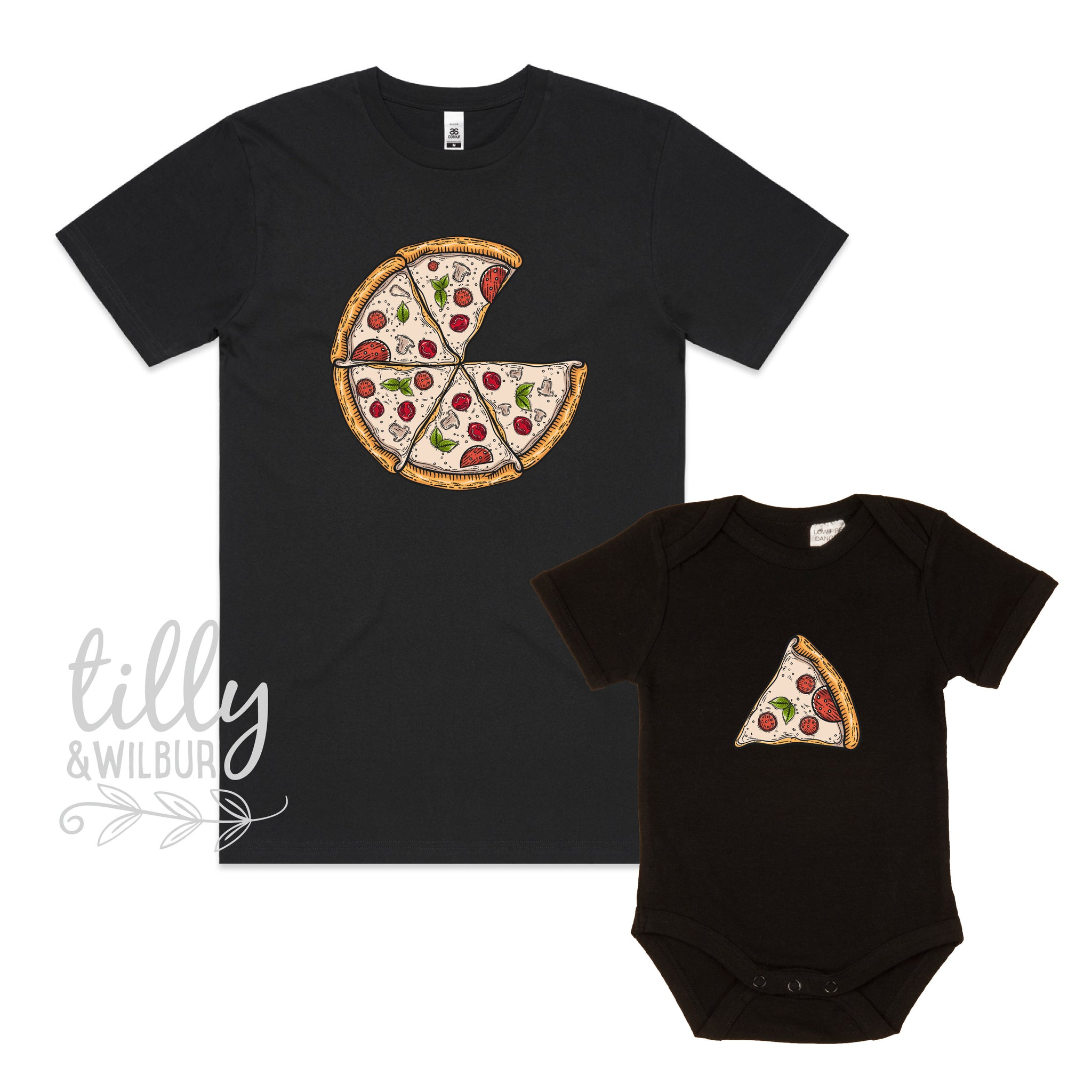 7d578b78 Father Son Pizza T-Shirt, Daddy Daughter Pizza T-Shirts, Matching Pizza