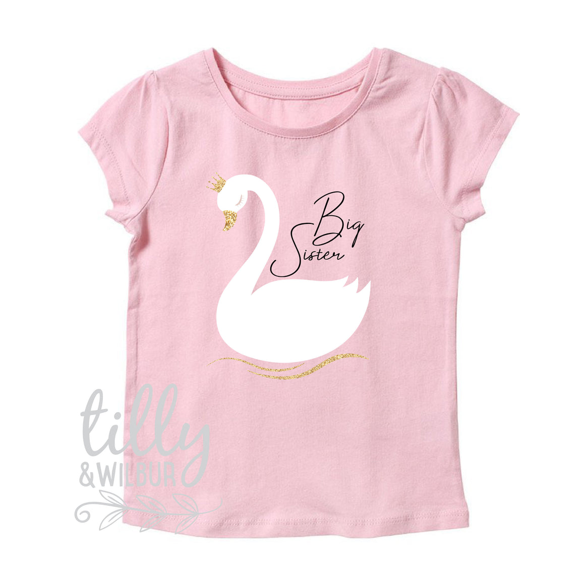 I'm Getting Promoted To Big Sister Girl's T-Shirt, Big Sister T-Shirt, I'm Going To Be A Big Sister, Big Sister Swan, Pregnancy Announcement