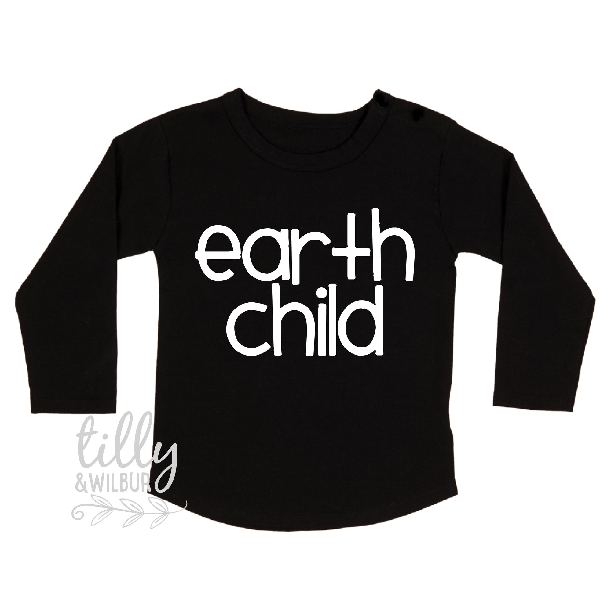 Earth Child Long Sleeve T-Shirt, Unisex Earth Child Kid's T-Shirt, Earthchild Childrens Tee, Environment, Equality, Save The Planet, Warrior