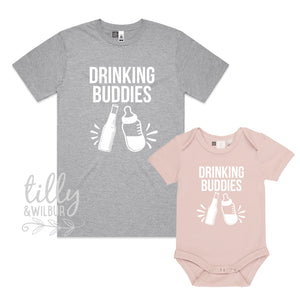 Drinking Buddies Matching Shirts, Daddy Daughter, Father Son, Beer, New Dad Gift, Matching Daddy Baby, 1st Father's Day, Father's Day Gift