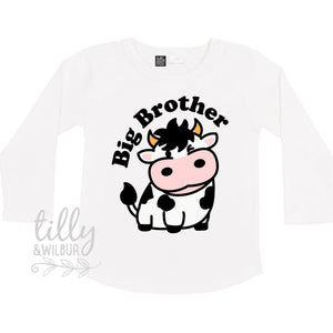 Big Brother T-Shirt, Big Brother Announcement, Big Brother Gift, Pregnancy Announcement Shirt, Big Brother T-Shirt, Cow, Bull, Calf, Farmer