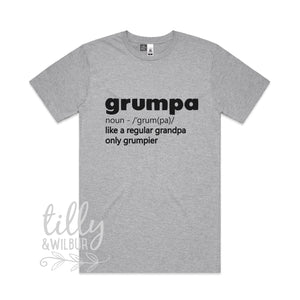 Grumpa Like A Normal Grandpa Only Grumpier Men's T-Shirt, Grandpa Gift, Grandad Gift, Grandparent Gift, Funny Grandpa Shirt, Dad Gift, Pop