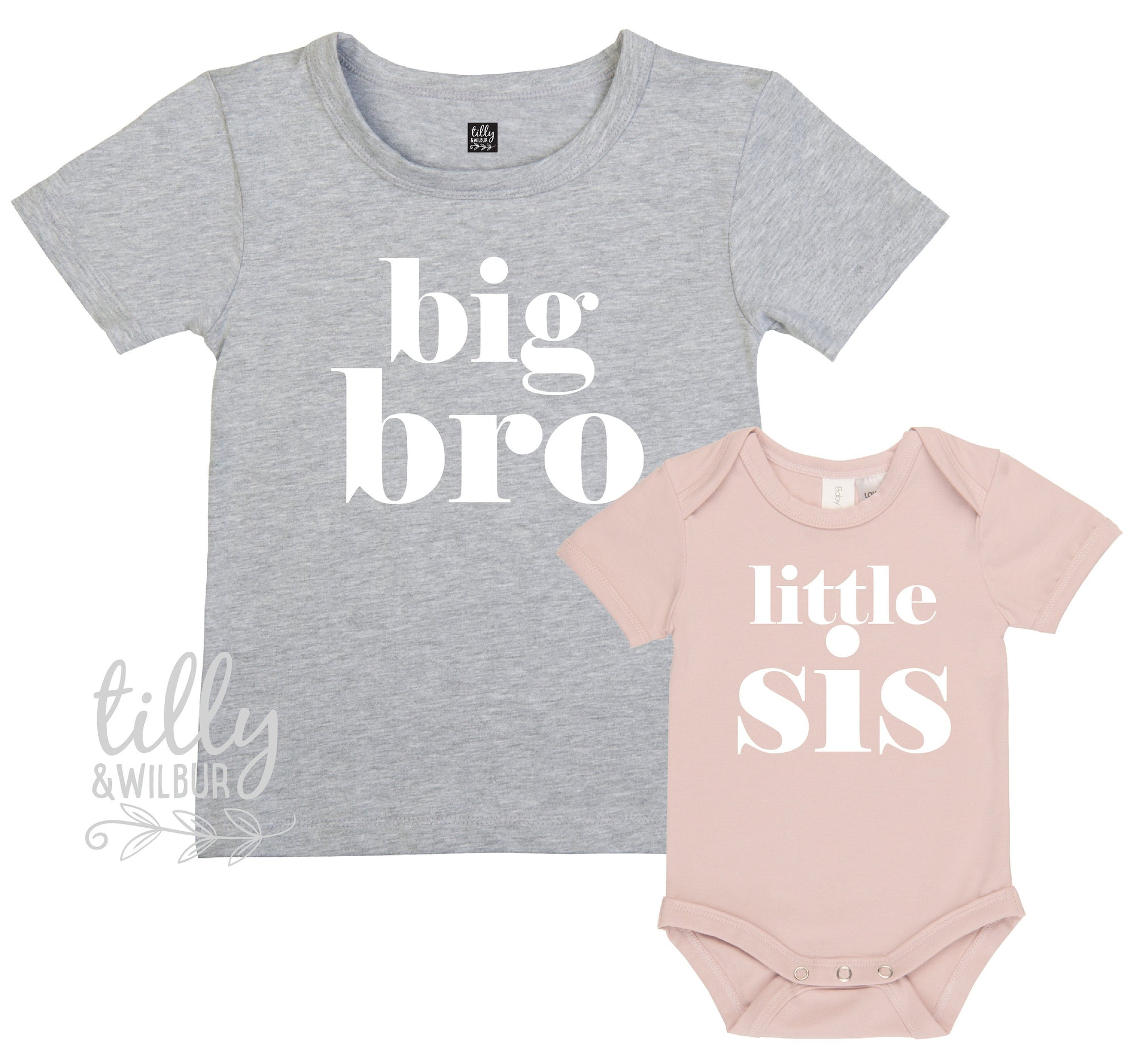Big Bro Little Sis Set, Matching Sister Brother Outfits, Matchy Matchy Sibling T-Shirts, Big Sister Shirt, Little Brother Bodysuit, Newborn