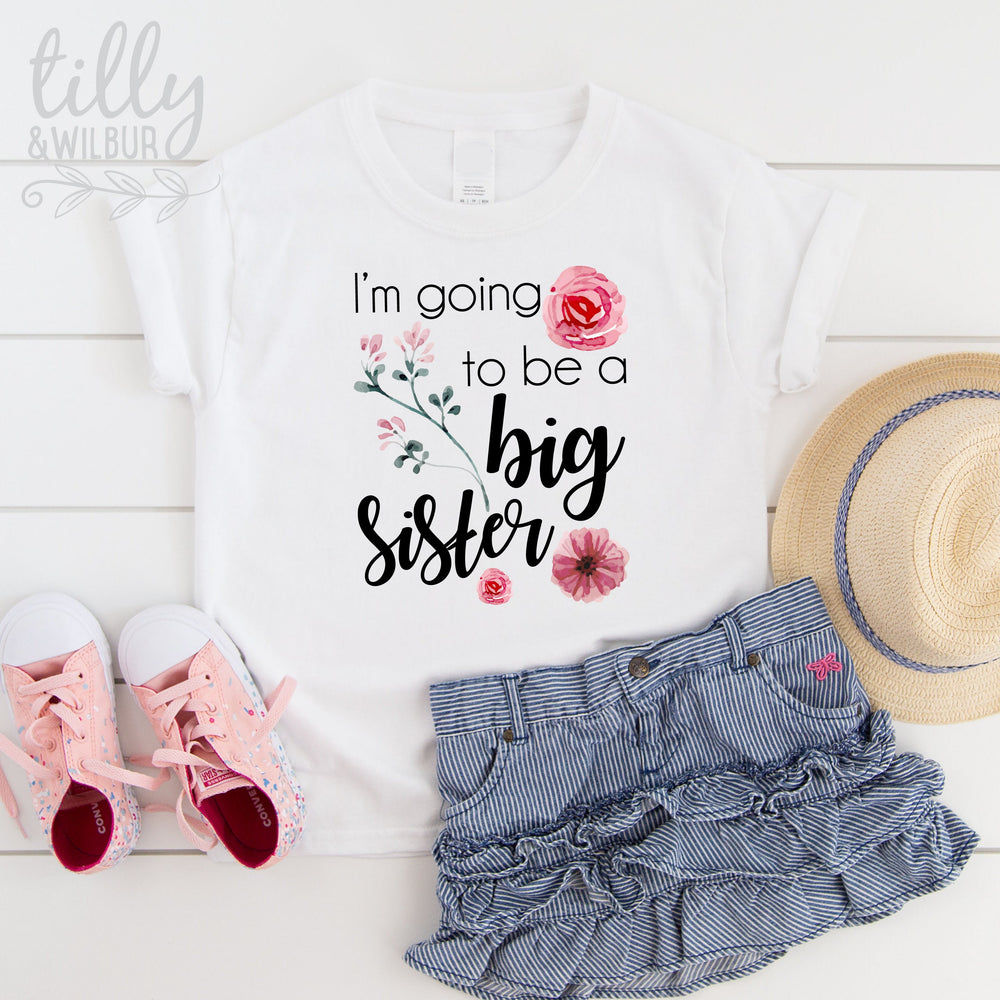 I'm Going To Be A Big Sister T-Shirt For Girls, Pregnancy Announcement Shirt, Pregnancy Announcement, Sister T-Shirt Gift, Big Sister To Be