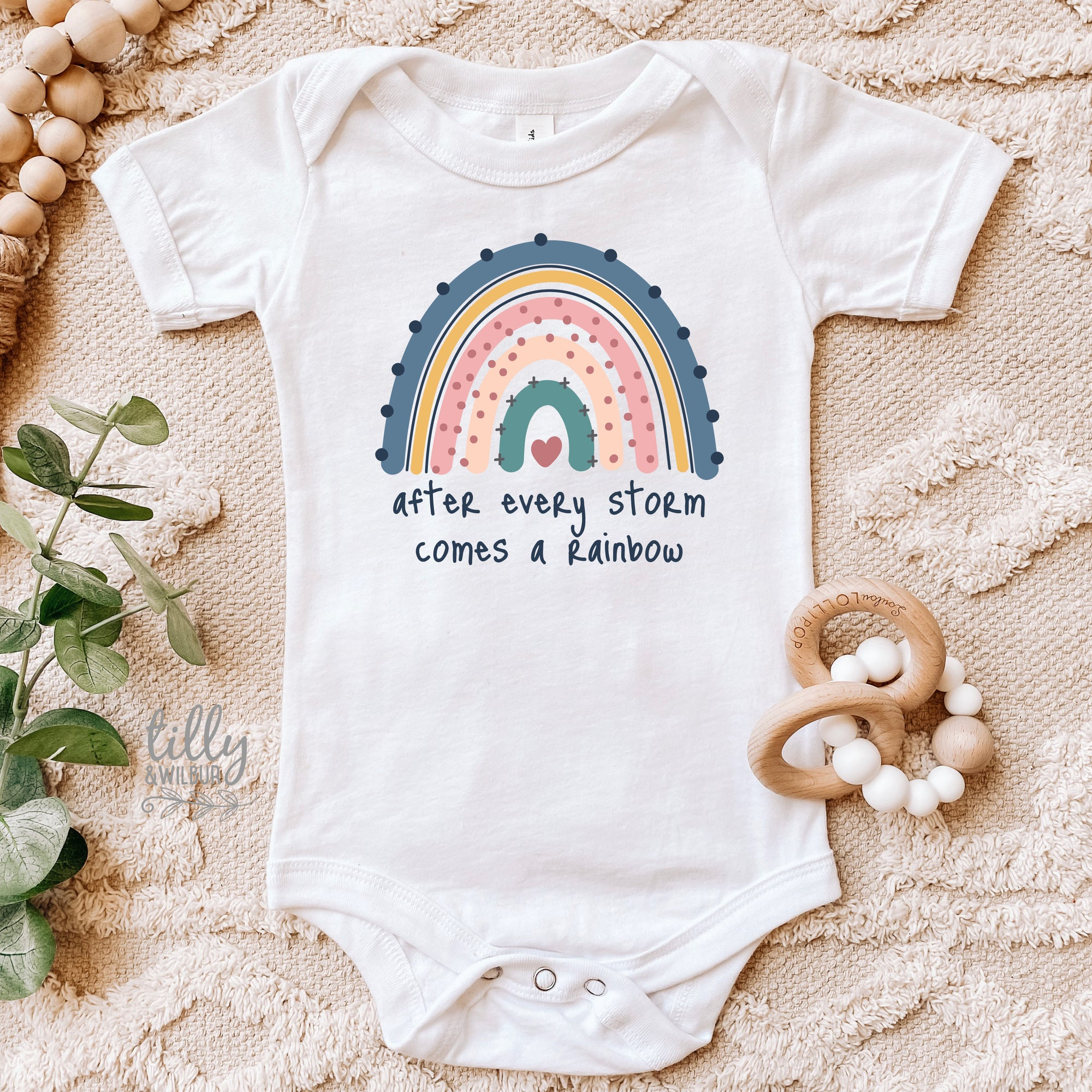 After Every Storm Comes A Rainbow Baby Bodysuit, Pregnancy Announcement Bodysuit, Rainbow Baby, Newborn Baby Gift, Baby Shower Gift, New Bub