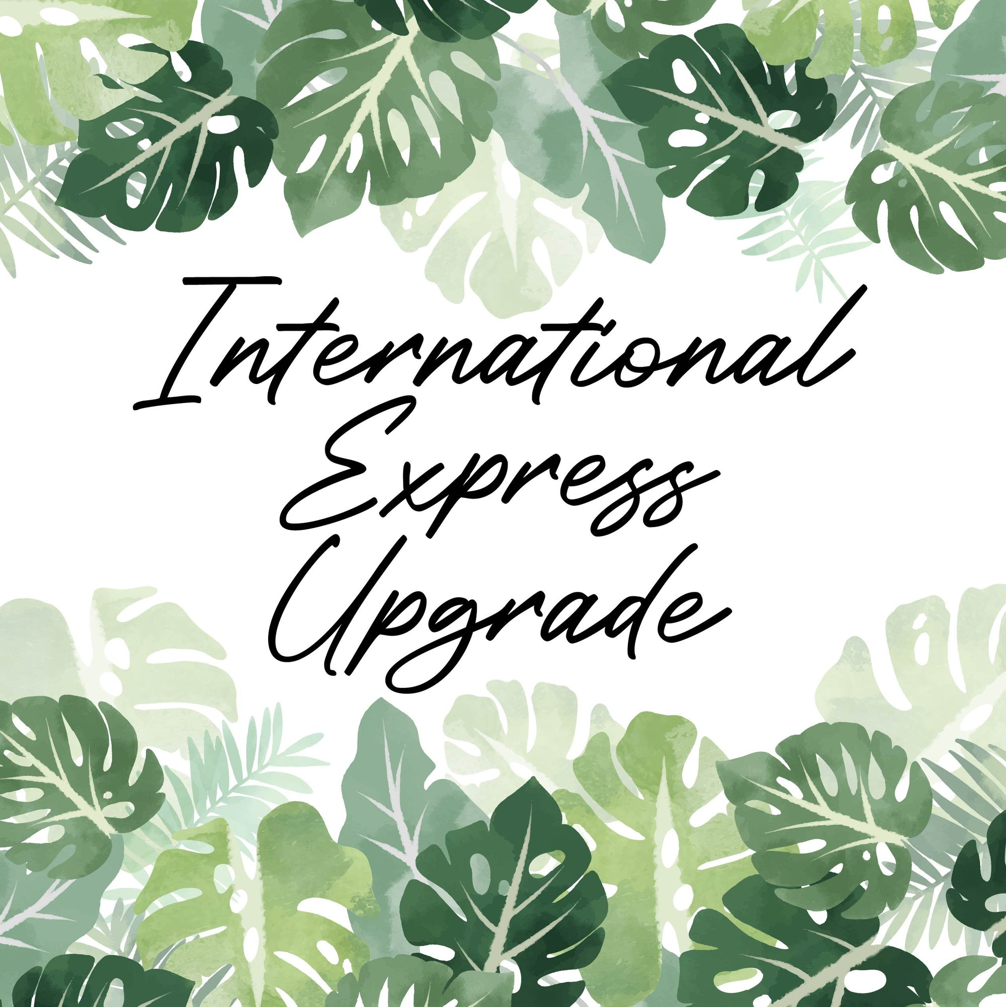 International Express Post Shipping Upgrade
