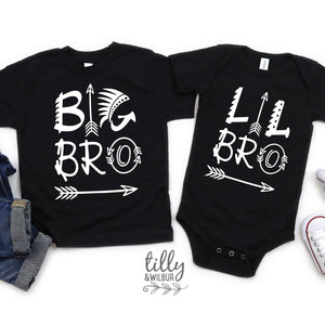 Big Bro Lil Bro Set, Big Brother Little Brother Matching Outfits, Sibling Outfits, Brother Gift, Pregnancy Announcement, Newborn Gift, Baby