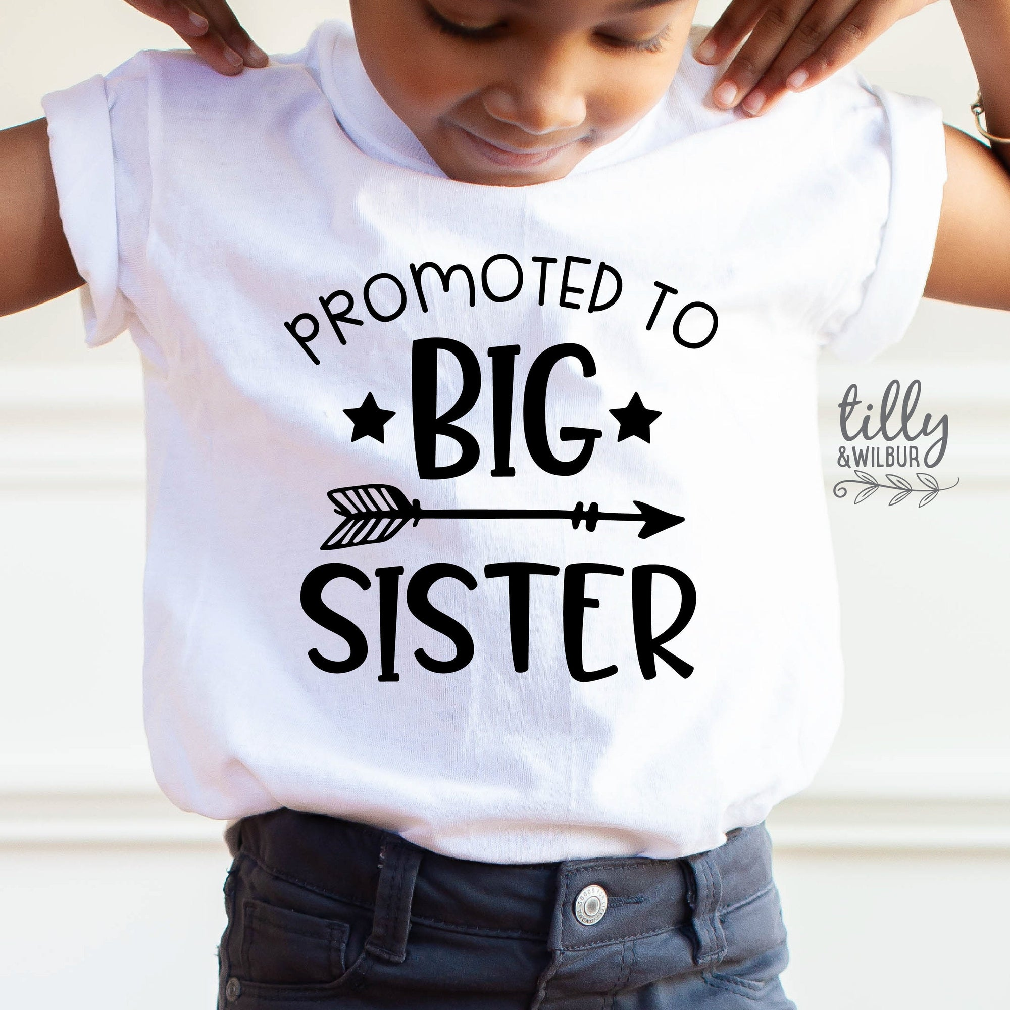 Promoted To Big Sister T-Shirt, Big Sis T-Shirt,  Big Sister Gift, Pregnancy Announcement Shirt, I'm Going To Be A Big Sister T-Shirt, Sis