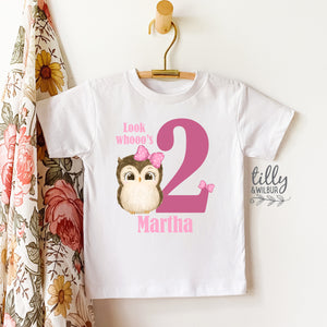 Look Whooo's Two Birthday T-Shirt, Two Wild Girls Birthday T-Shirt, Two Wild Birthday, 2 Year Old Girl, Personalised 2nd Birthday T-Shirt