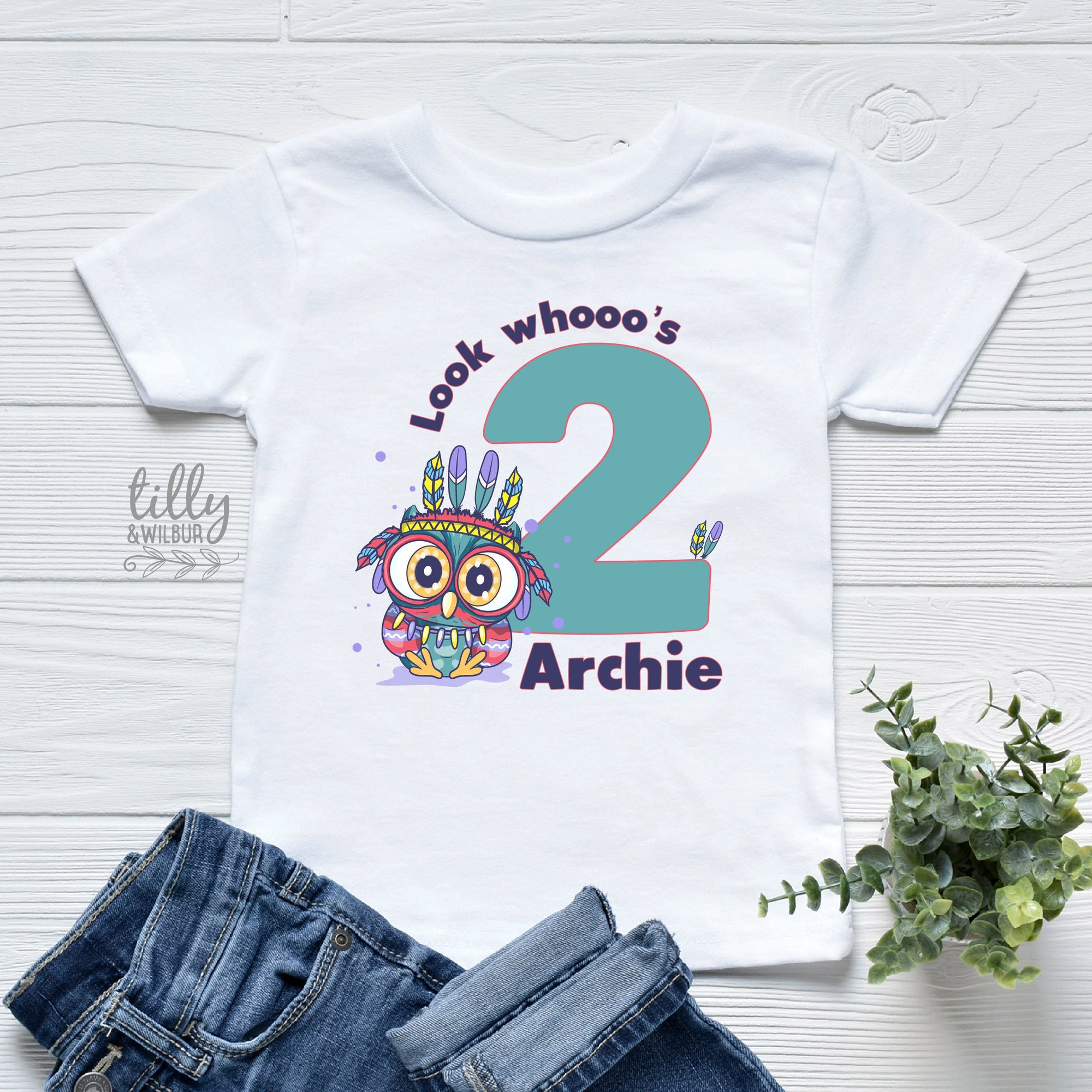 Look Whooo's Two Birthday T-Shirt, Two Wild Boys Birthday T-Shirt, Two Wild Birthday, 2 Year Old Boy, Personalised 2nd Birthday Owl T-Shirt