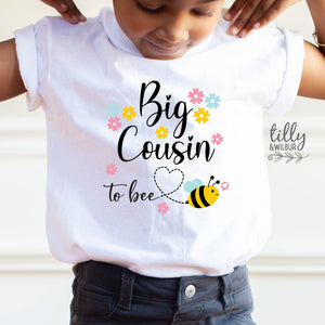 Big Cousin To Bee T-Shirt, Big Cousin Announcement, Big Cousin To Be Shirt, Pregnancy Announcement Shirt, I'm Going To Be A Big Cousin Shirt