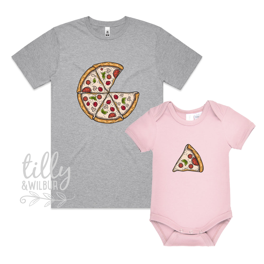 Matching Pizza Slice Family T-Shirts, Daddy And Daughter, Father And Son, Matching Dad Baby, Daddy Daughter, Father's Day Gift, Newborn Gift