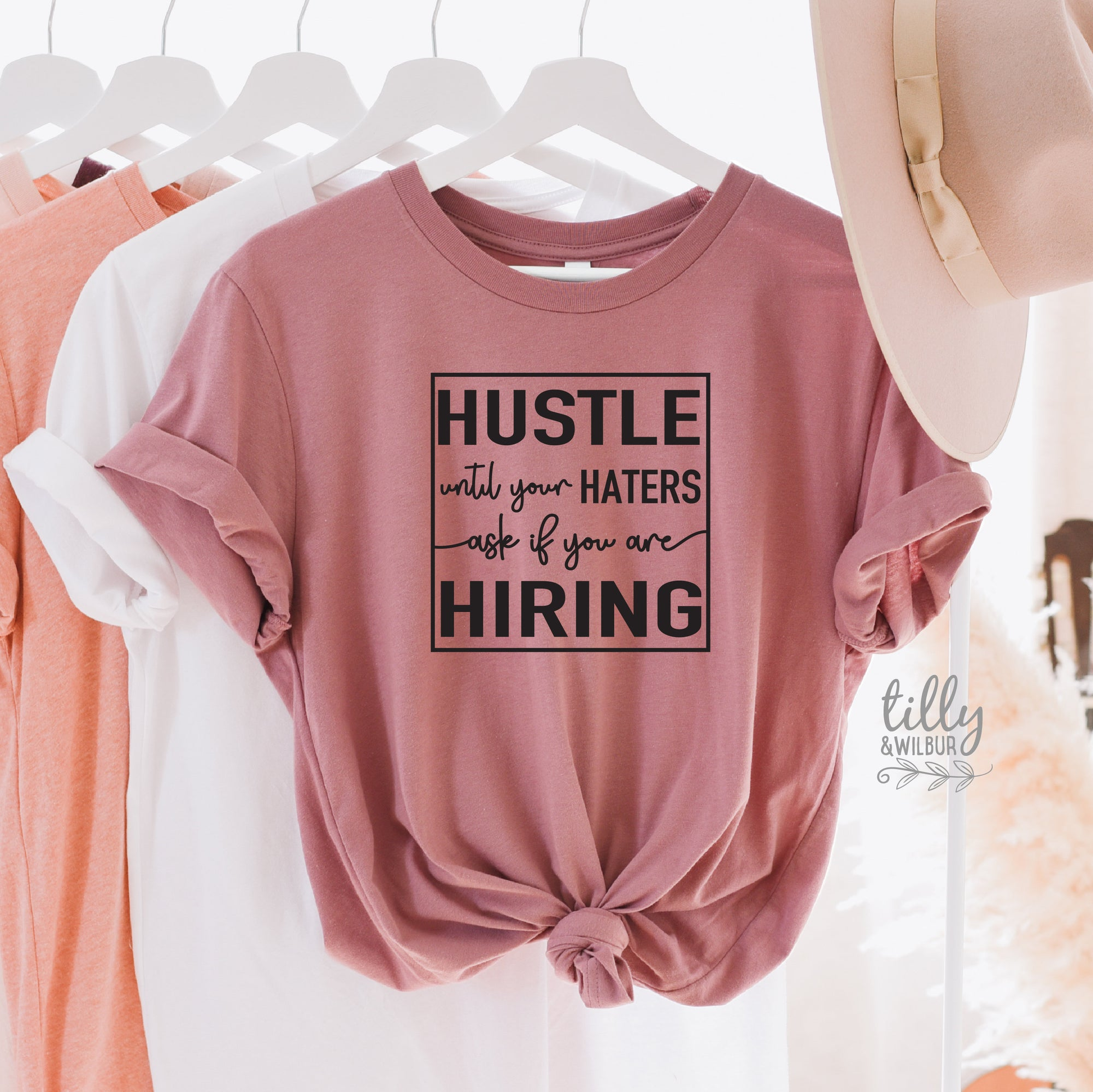 Funny Women's T-Shirt, Hustle Until Your Haters Ask If You Are Hiring T-Shirt, Strong Women T-Shirt, Girl Boss T-Shirt, Haters T-Shirt, Gift