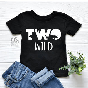 Two Wild Birthday T-Shirt, Two Wild Dinosaur T-Shirt, 2 Year Old Boy, Second Birthday Gift, 2nd Birthday Present, 2nd Birthday Outfit, Boy 2