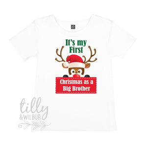 It's My First Christmas As A Big Brother Boys T-Shirt