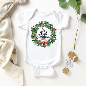 My First Christmas 2020 Baby Bodysuit