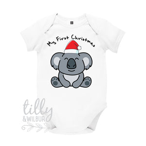 My 1st Christmas Koala Bear Baby Bodysuit