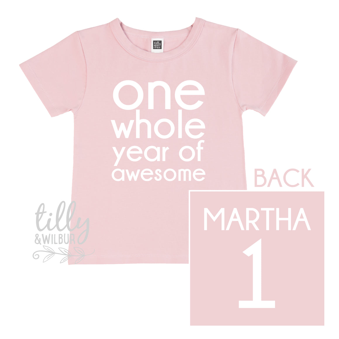 One Whole Year Of Awesome Girls 1st Birthday T-Shirt