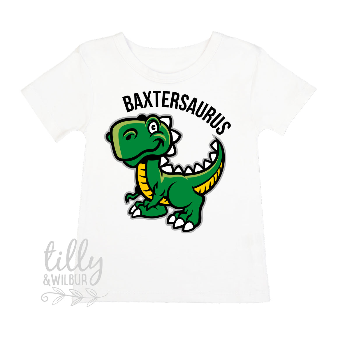 Personalised Dinosaur T-Shirt For Boys