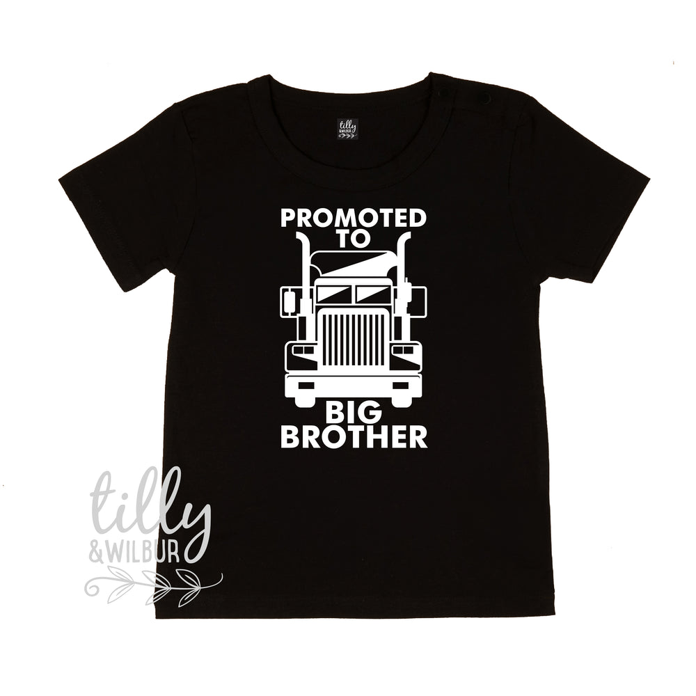 Promoted To Big Brother Trucker T-Shirt