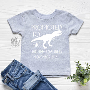 Promoted To Big Brother-Saurus Dinosaur T-Shirt