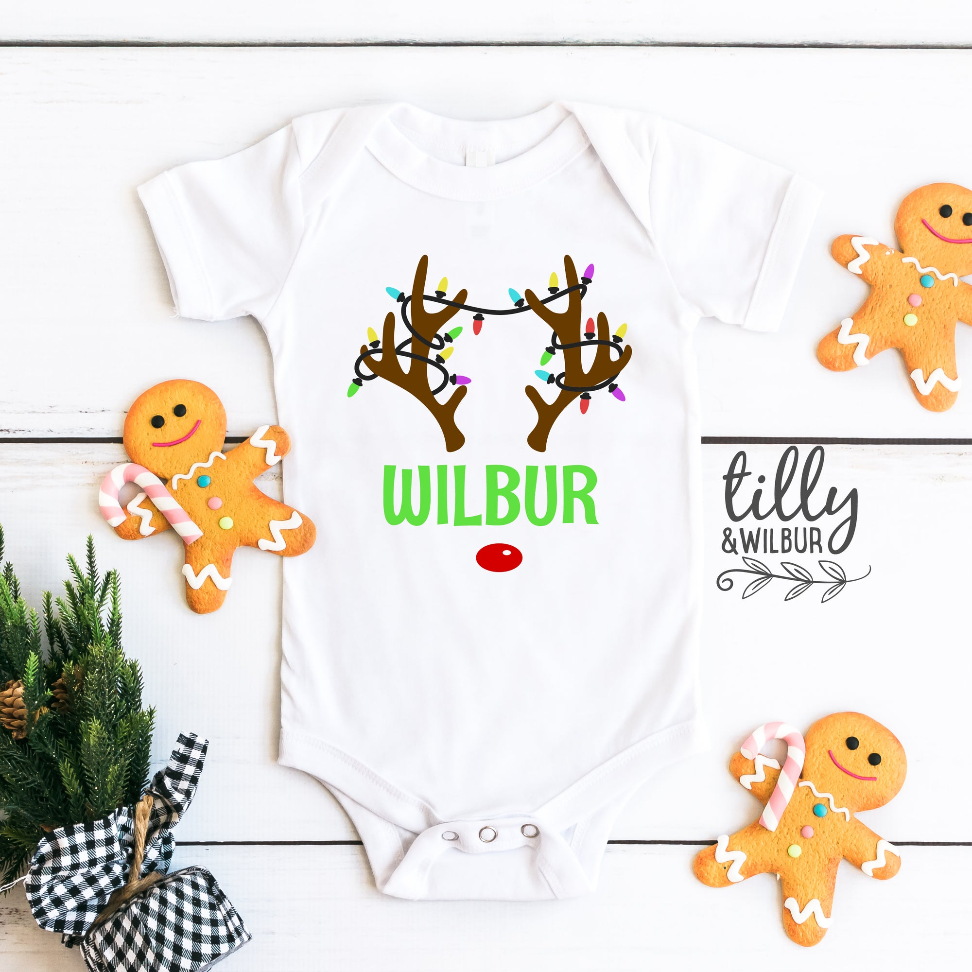 Rudolph The Red Nosed Reindeer Baby Bodysuit (Unisex)