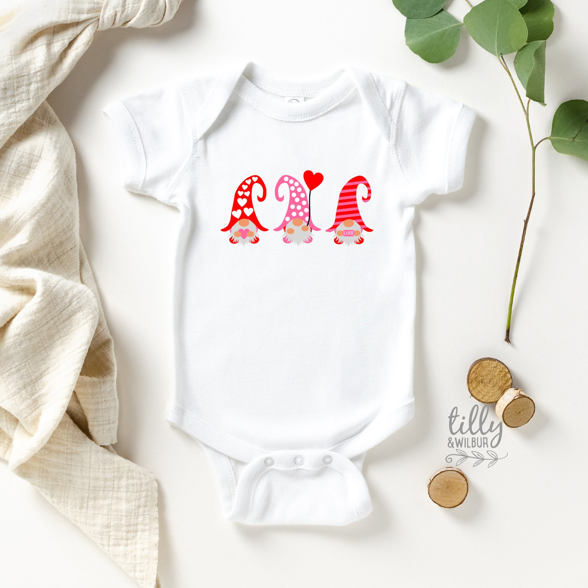 Valentine's Day Baby Bodysuit For Girls