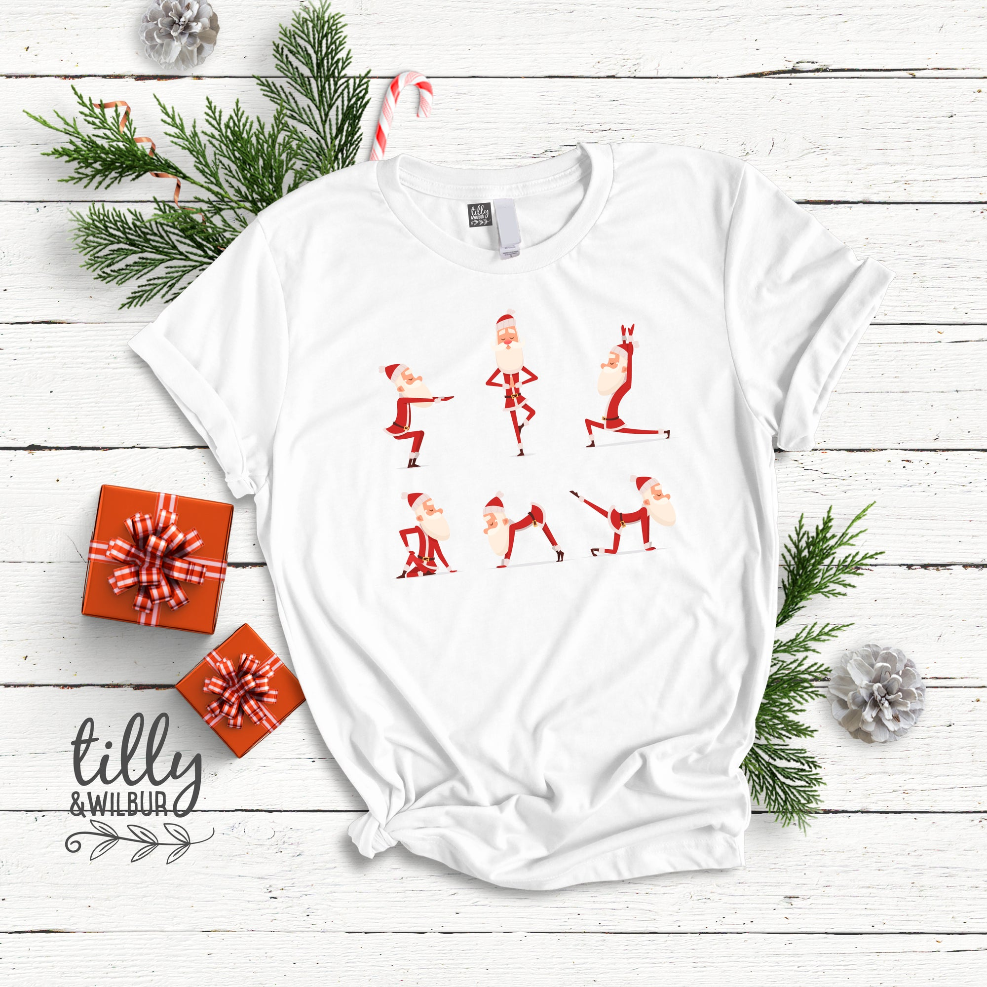 Yoga Santa Women's T-Shirt