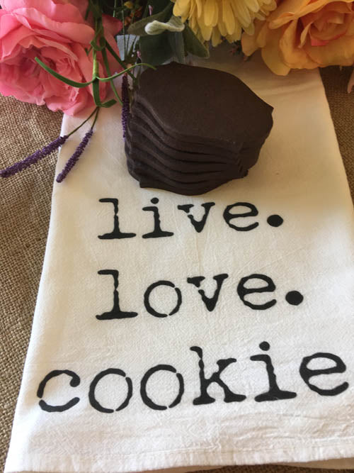 Live. Love. Cookies. Flour Sack Towel