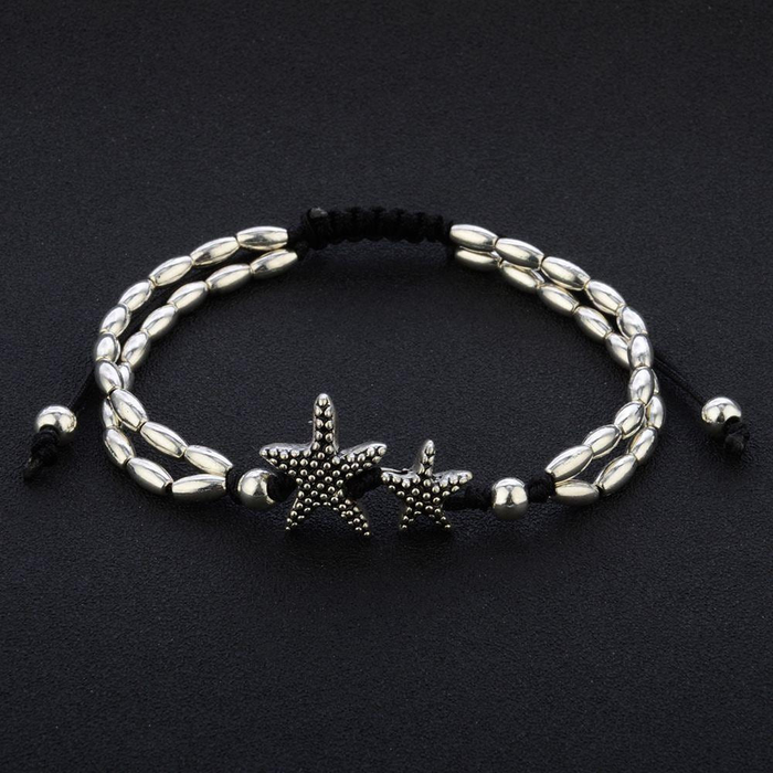 Vintage Double Beaded Starfish Anklet Ankle Bracelet
