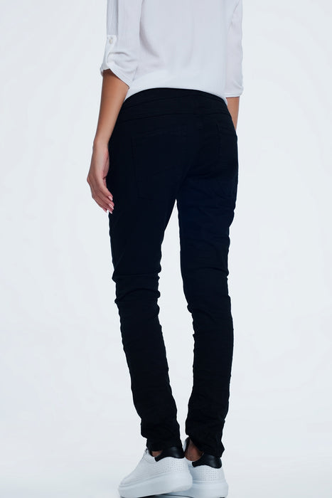 Drop Crotch Skinny Jean in Black