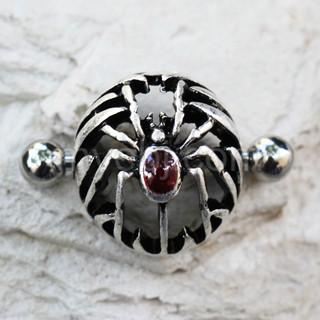 316L Stainless Steel Gothic Spider Dome Shape Nipple Shield