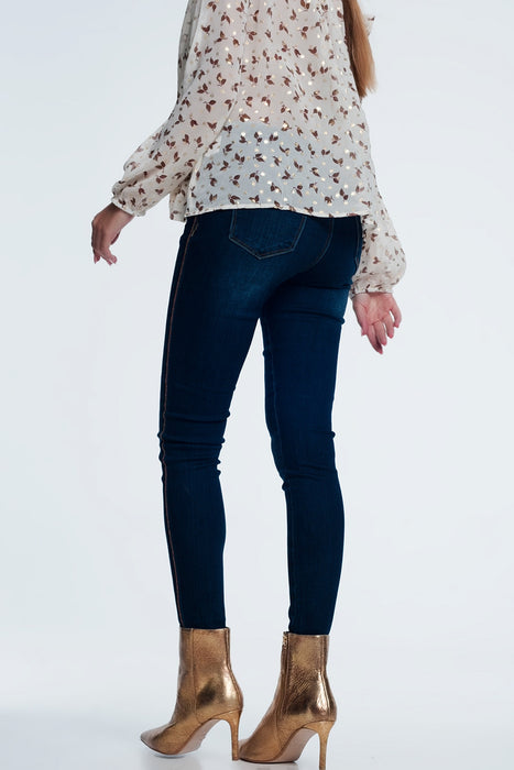 Gold Side Detail Jeans