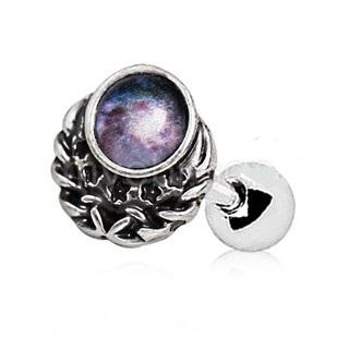 316L Stainless Steel Galaxy Charm Cartilage Earring