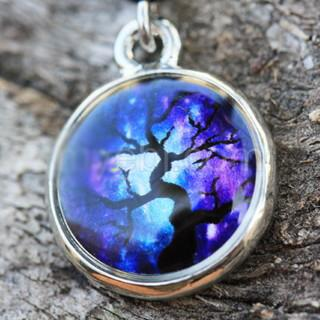 316L Stainless Steel Magical Tree Pendant Dangle Navel Ring